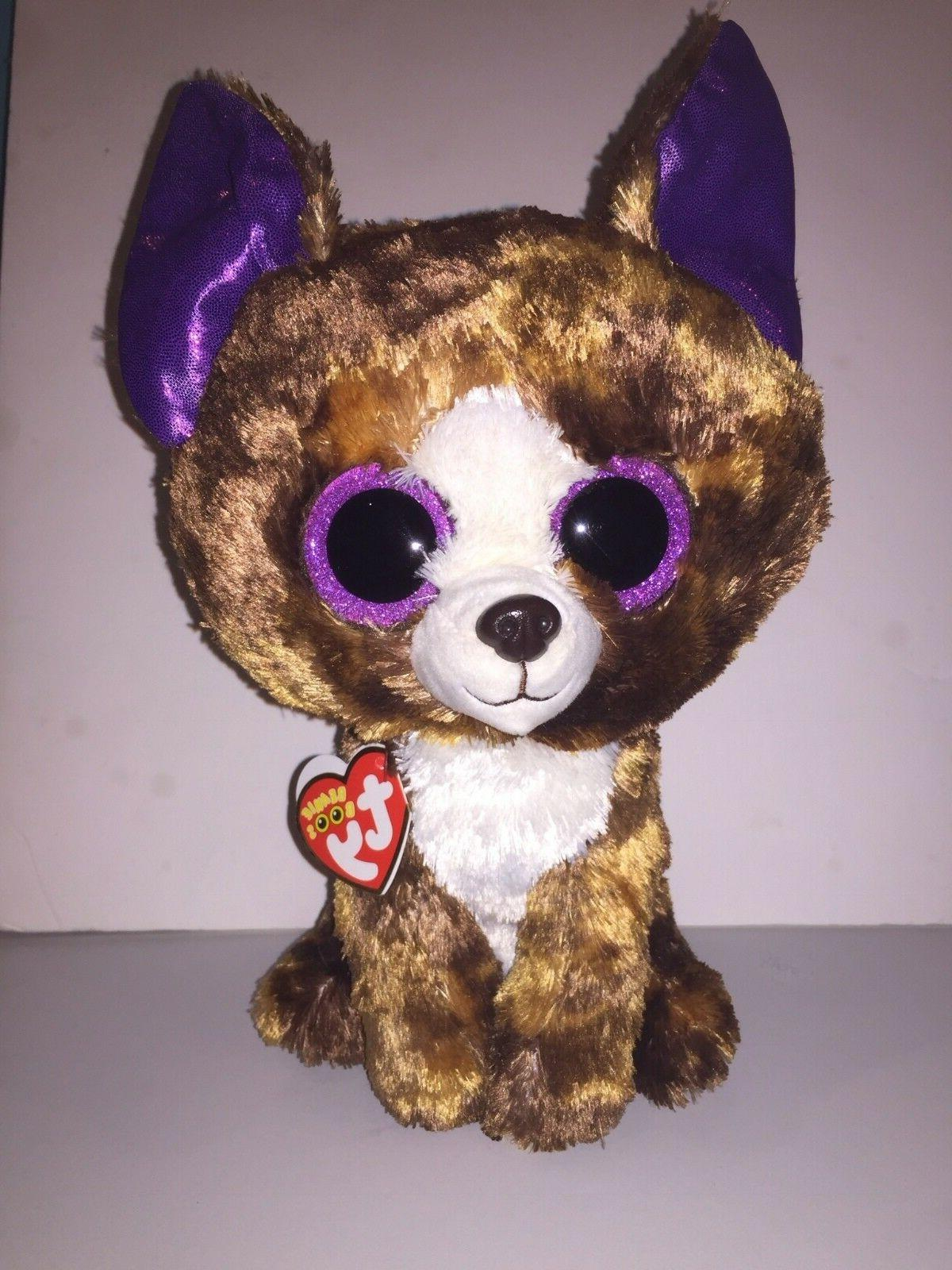 "TY DEXTER CHIHUAHUA 9"" BEANIE BOOS-NEW, MINT TAG *IN HAND NO"