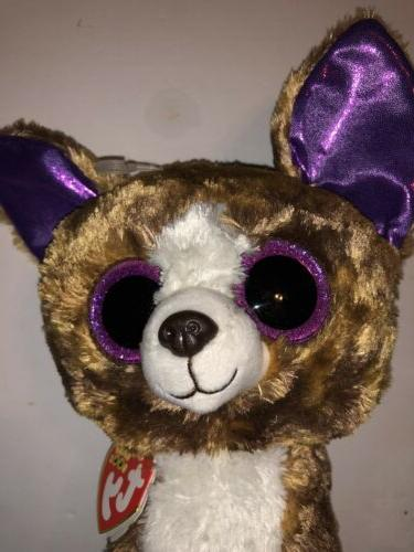 """TY DEXTER CHIHUAHUA 9"""" BEANIE BOOS-NEW, MINT TAG *IN HAND NO"""