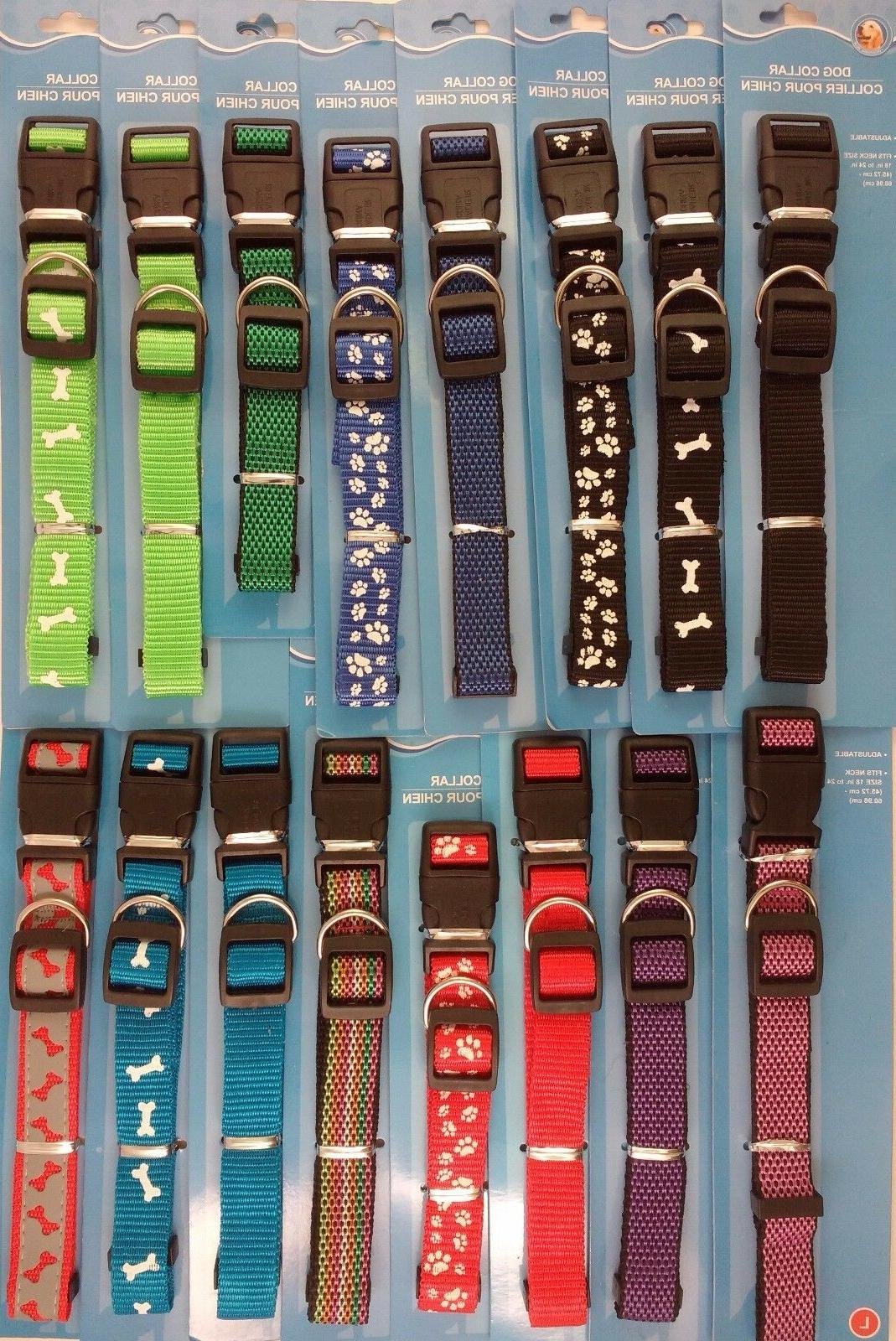 dog collars adjustable nylon strap for smaller