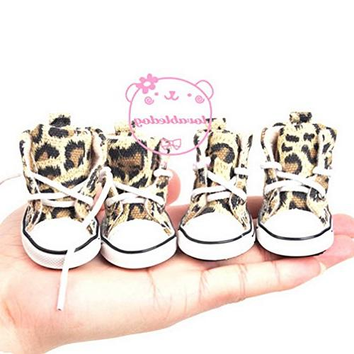 Ranphy for Female Lace up Sports Leopard Canvas Sneaker Dog L