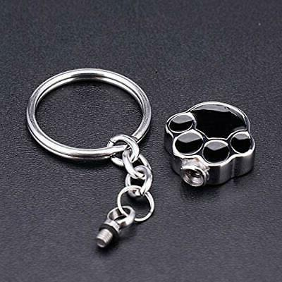 Dog Keychain Memorial Ash