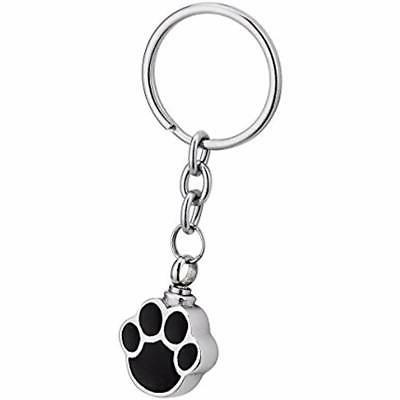 dog palm cremation urn keychain stainless steel