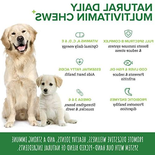 PupGrade Dog Vitamins - Best for Enzymes, Fish & C, D & E, All Made Chews