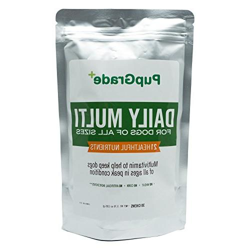 PupGrade Dog Vitamins - Best Multi for Probiotic Fish Oil C, & All Treats, in Chews