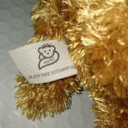 Princess Soft Toys Puppy Dog St. Jude's Brown 13in Bow NEW