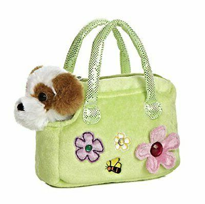 fancy pals plush murphy dog purse pet