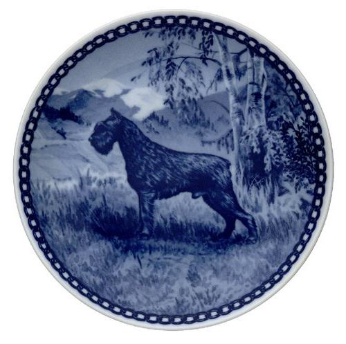 giant schnauzer dog plate made