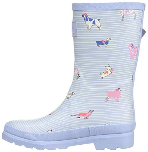 Joules JNRGIRLSWLY Boot, Blue Best Dogs, US Infant