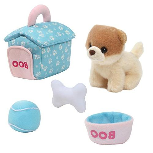 gund boo worlds cutest dog house playset toy plush