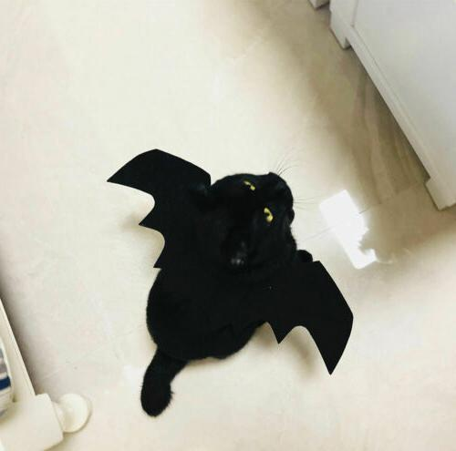 Halloween Pet Cat Bat Wings Costumes Apparel Dogs and