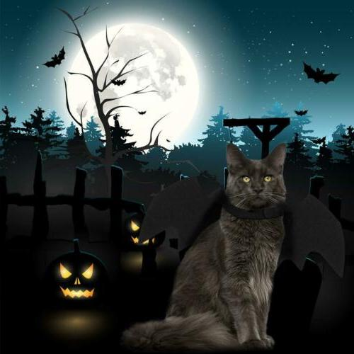 Halloween Pet Cat Bat Wings Apparel Small Dogs and