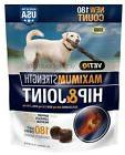 VetIQ Hip & Joint Chews for Dogs 180 ct Help Support Protect