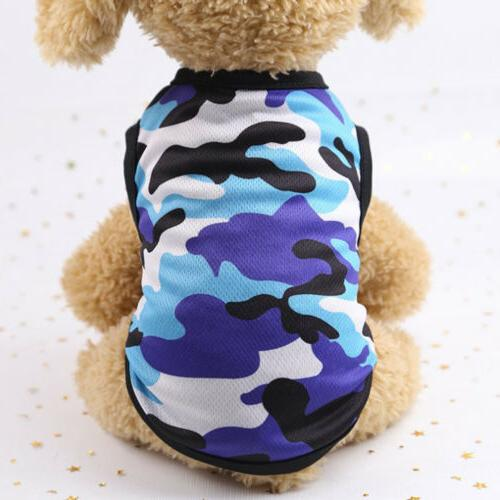 Hot Summer Clothes Camouflage Vest Small Dogs Pet Puppy Shirt Colorful