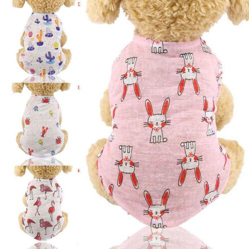 Hot Summer Dog Clothes Camouflage Vest Dogs Pet Puppy Shirt Colorful
