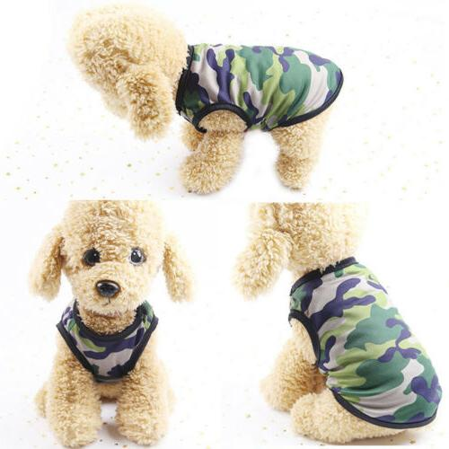 Hot Summer Camouflage Dogs Shirt Colorful