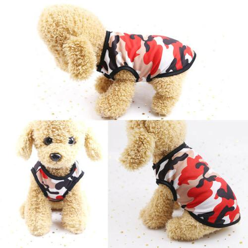 Hot Summer Dog Clothes Camouflage Dogs Shirt