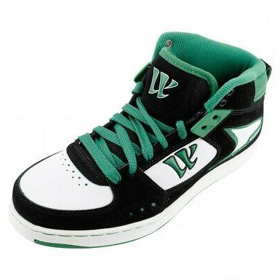 Warrior Mid Skate/ Shoes - Black / Green