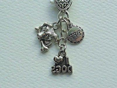 i love dogs bff dog charms keychain