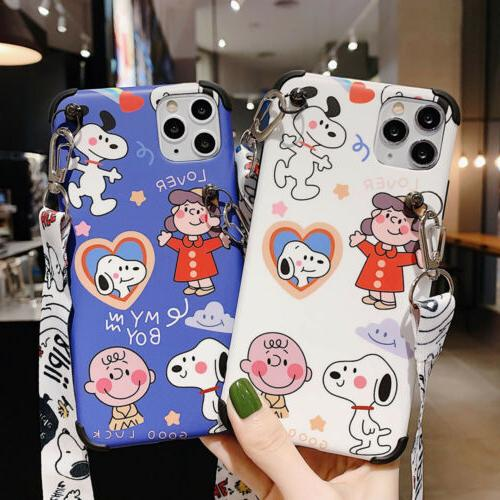 For 11 Pro Max X 7 Plus Phone Cover Cartoons SNOOPY Dog