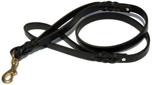 k9 double handle braided leather