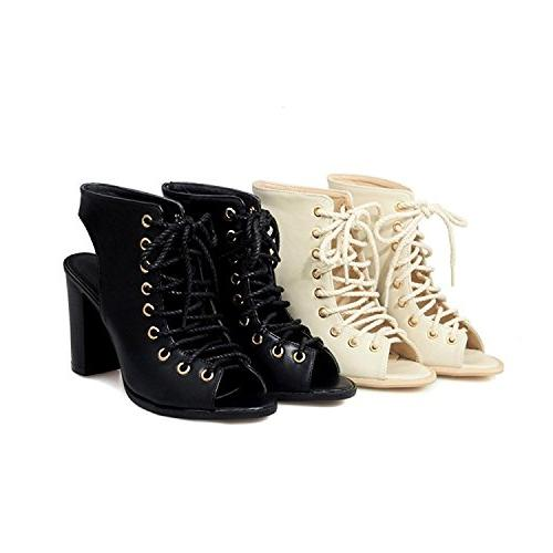 Stacked Toe Ankle Booties Sandals B