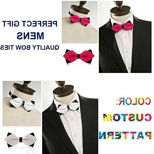 YEAHSPACE Silk Bowtie Gift English Bulldogs Bow Ties For