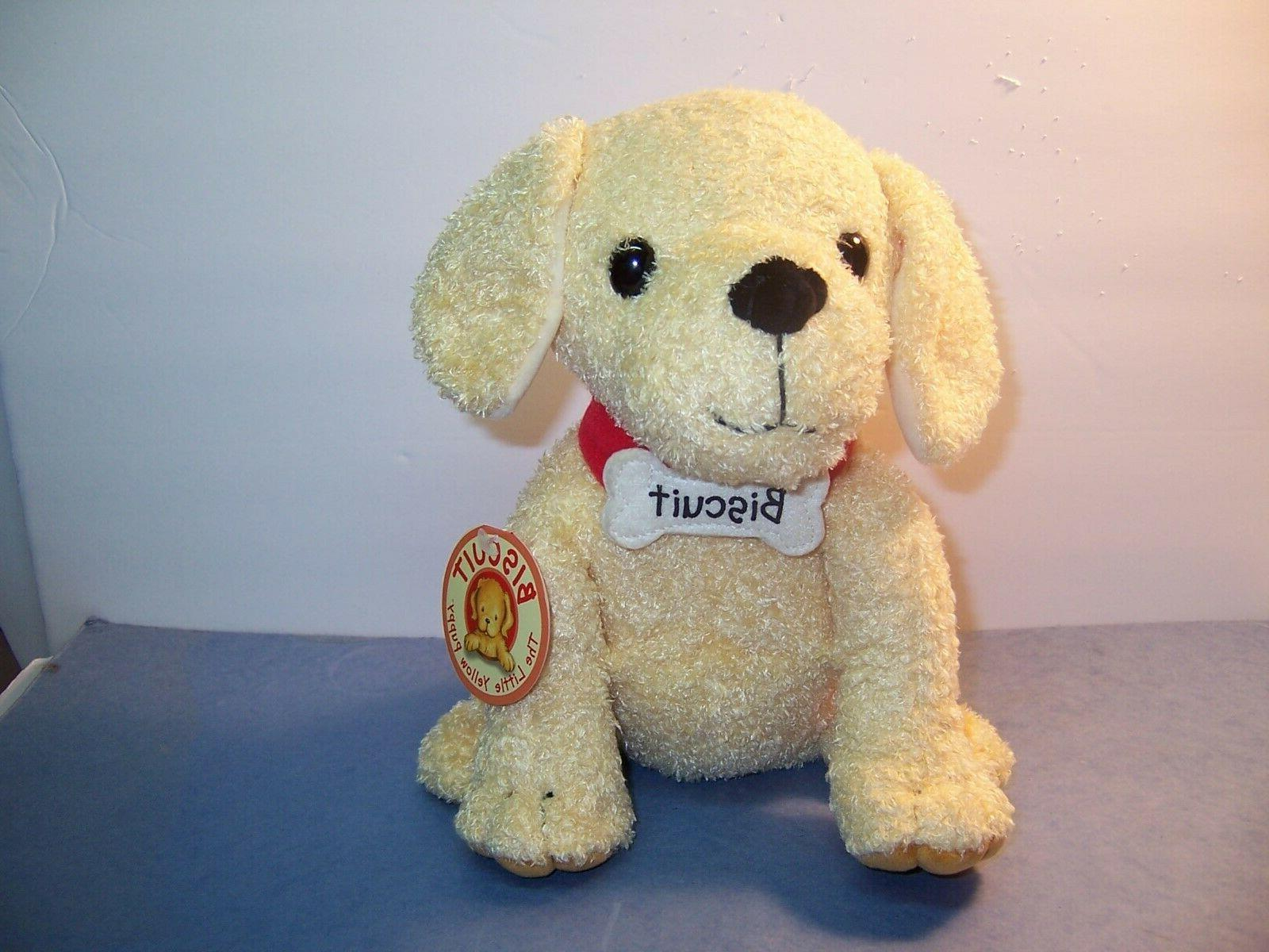 merrymakers biscuit plush dog 10 inch nwt