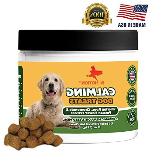 motion anxiety calming treats dogs