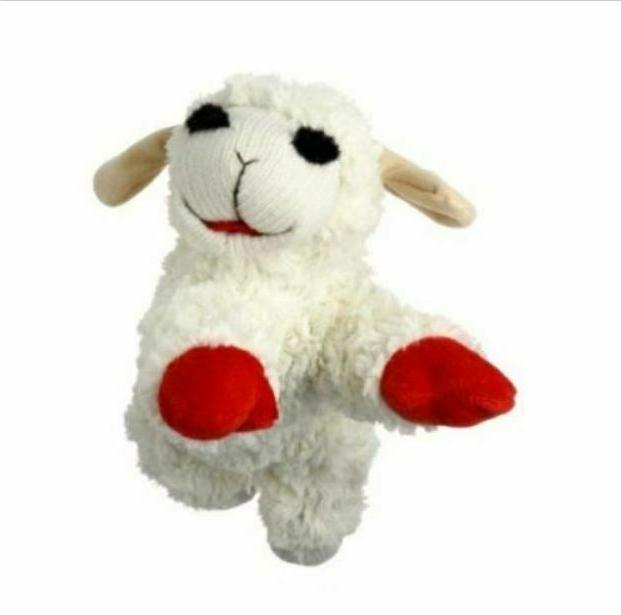 Multipet Lamb Chop Dog Toy Plush &Squeak Toys for Dogs SIZE
