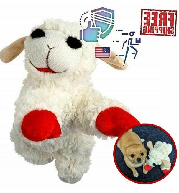Multipet Lamb Chop Dog Toy Plush &Squeak Toys for &Puppies SIZE