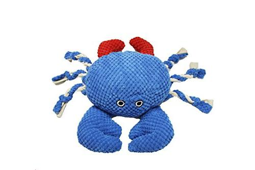 nautical crab dog chew toy