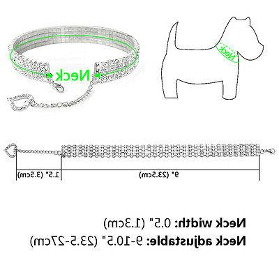 Necklace for Rhinestone Dog collar Heart for Dogs