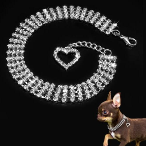necklace for dogs bling rhinestone dog collar