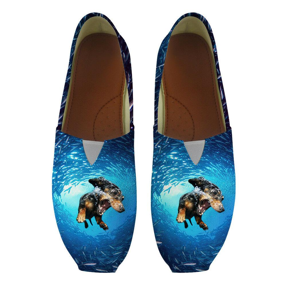 Ocean Shoes Blue Fashion Driving Lady