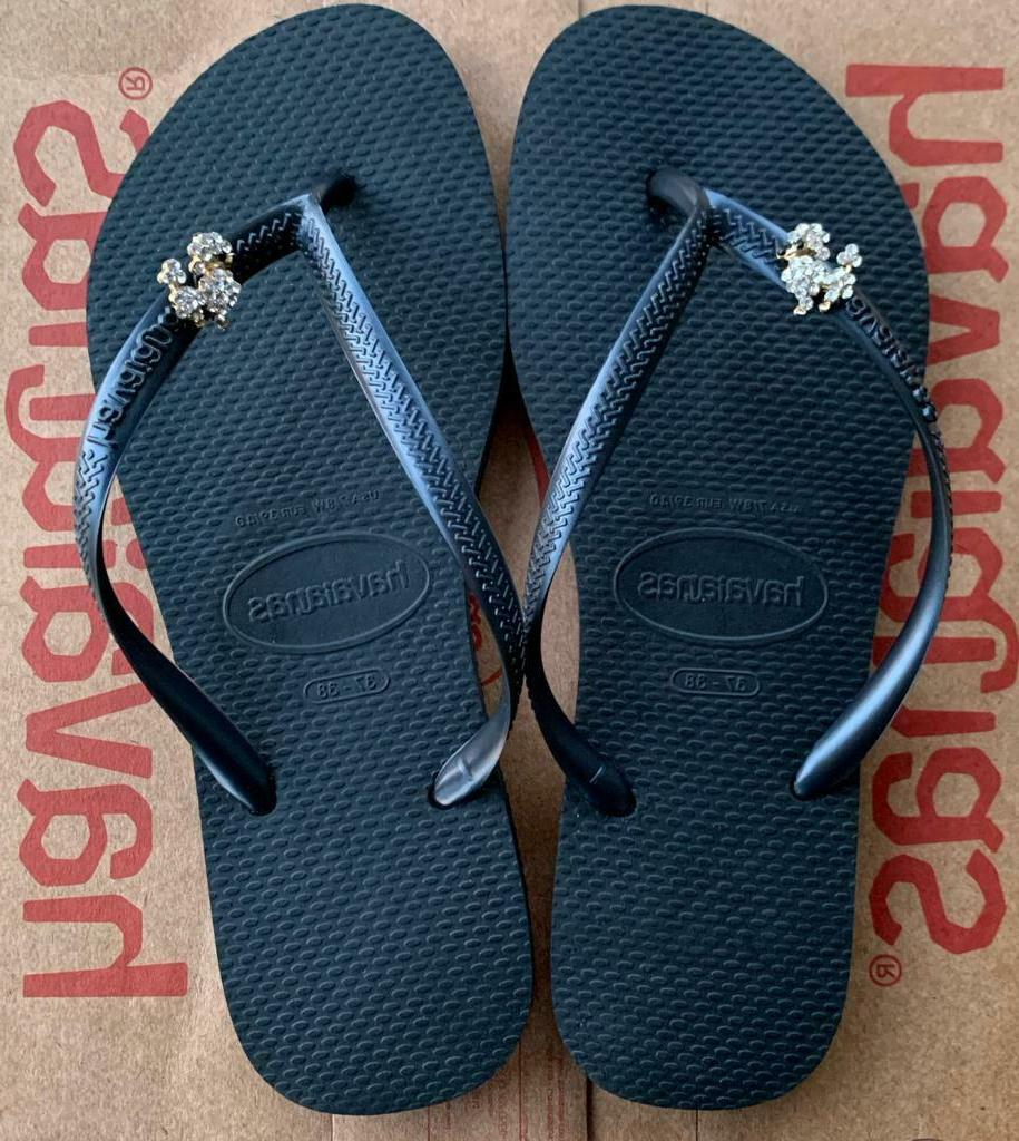Original HAVAIANAS Flip Flops Women Slim and Personalized Charm