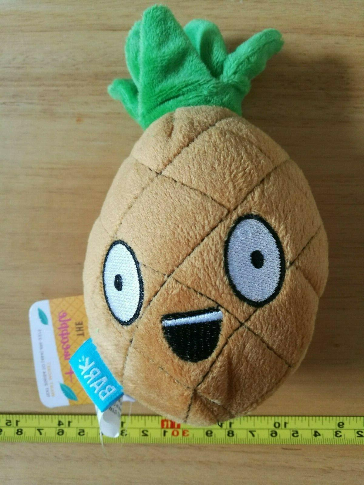 penny the pineapple squeaker plush dog toy