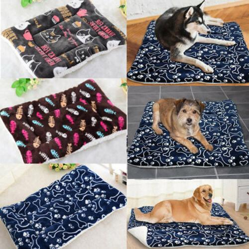 Pet Bed for & Cats - Soft Printed Sleep Mattress