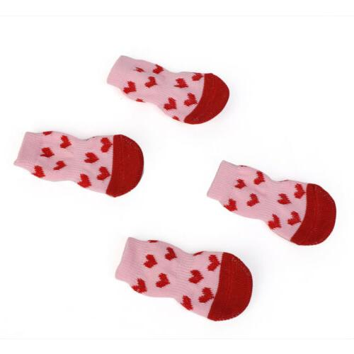 Pet Cat Socks for Small Dogs Knitted Cotton Slip Pet Puppy