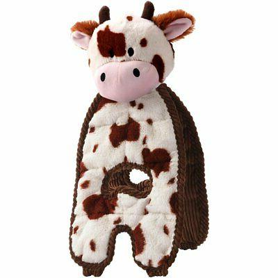 pet cuddle tugs pet squeak toy cow
