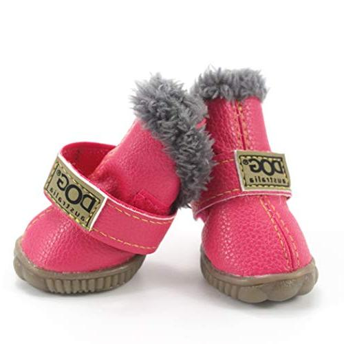 SENERY Pet Dog Boots,Winter Waterproof Warm Dog's Boots Cotton Anti Slip Shoes for Product