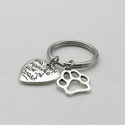 Pet Dog Memorial Keychain You My Heart Sympathy Office