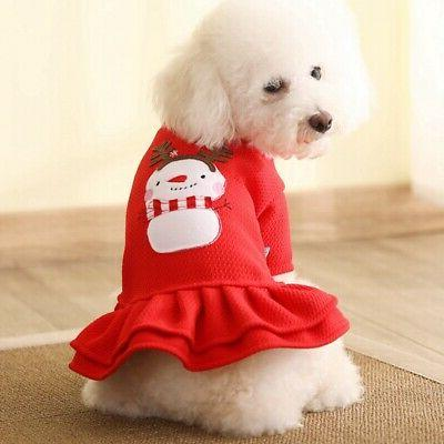 Pet Dress Cute Apparel Outfit Winter