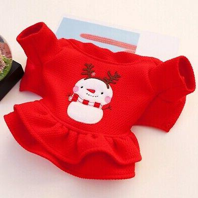Pet Dogs Xmas Dress Cute Apparel Outfit Winter