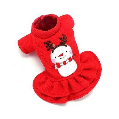 Pet Dogs Xmas Dress Cute Outfit Winter