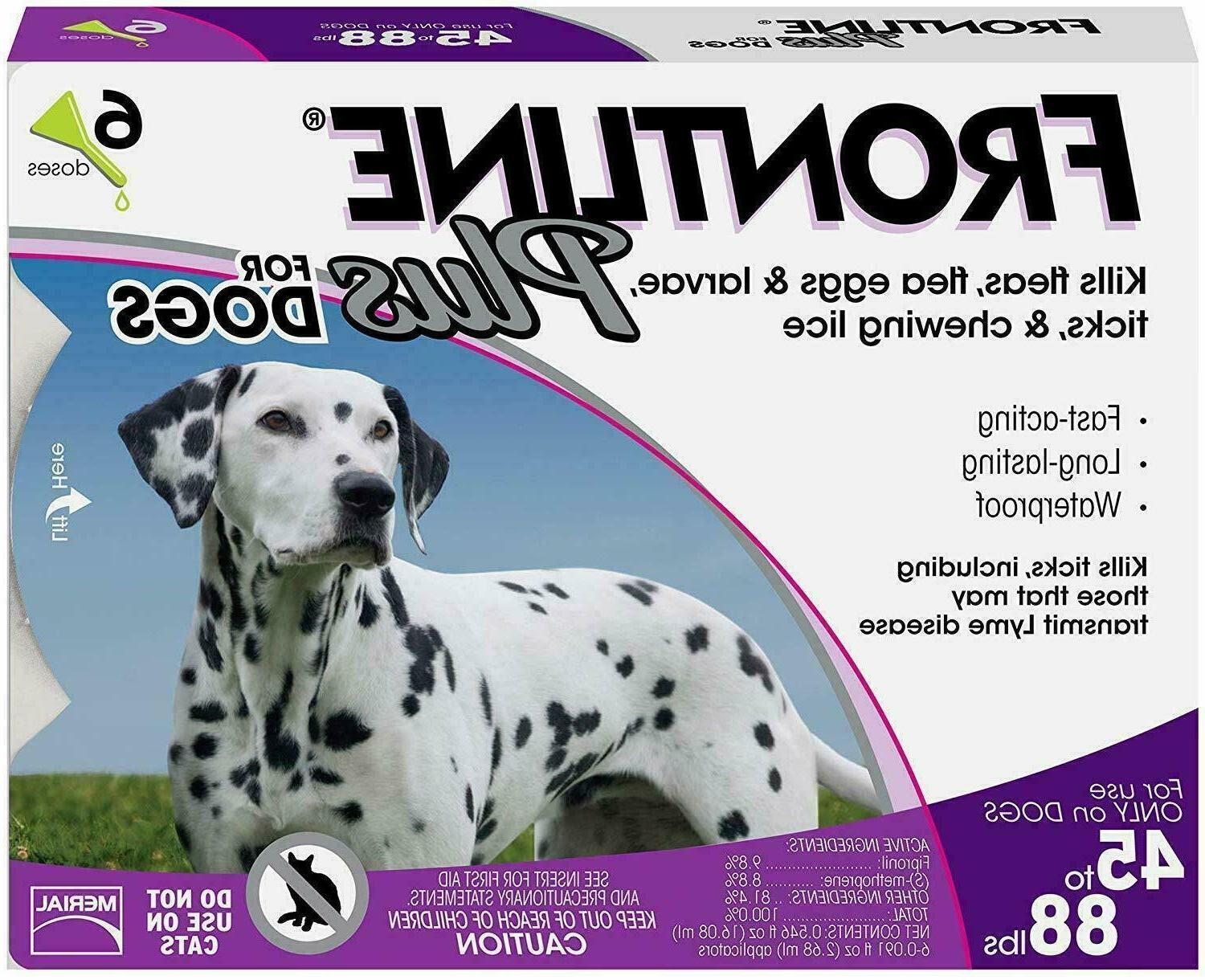 plus flea and tick treatment for dogs