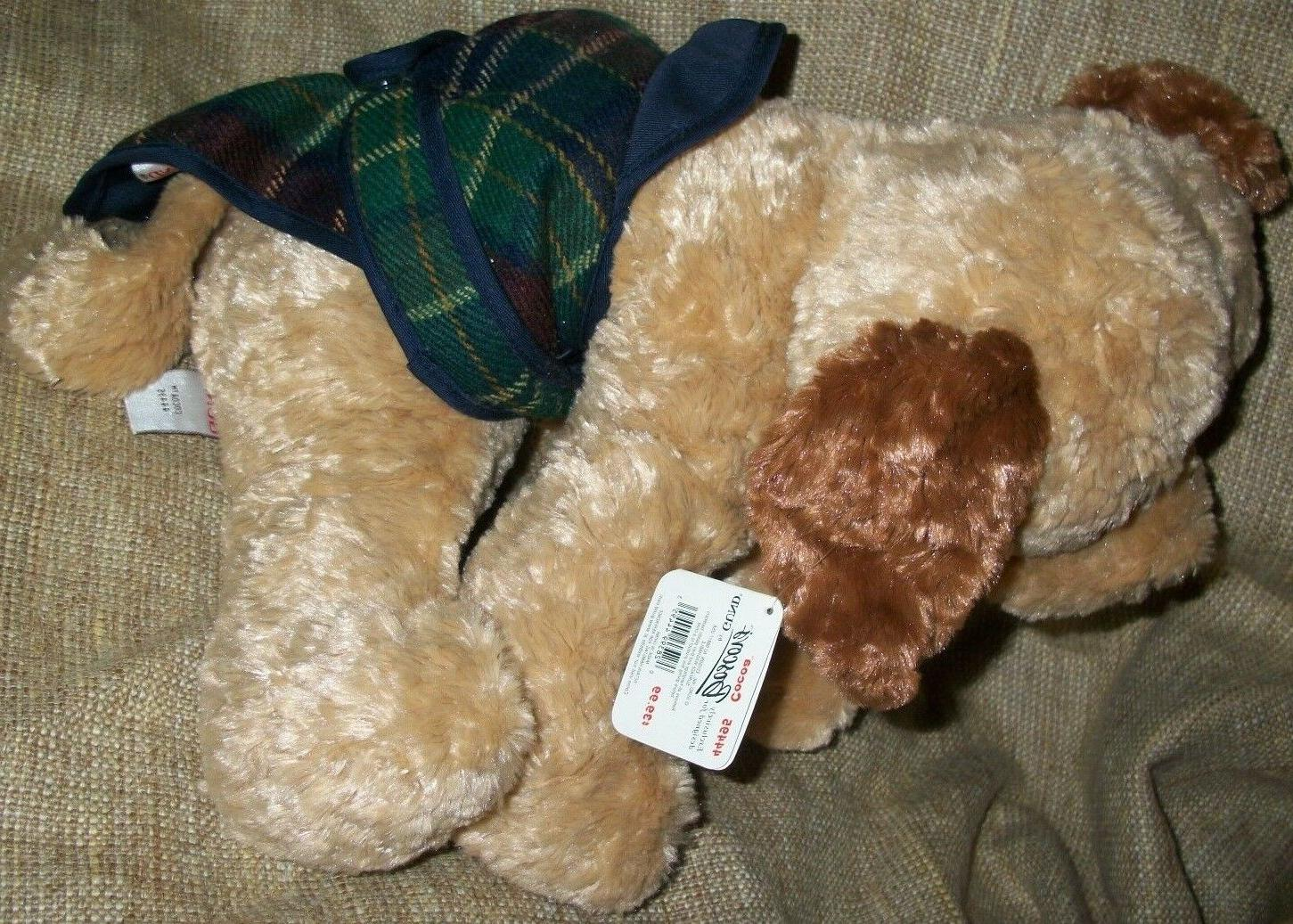 Gund Plush Tan floppy Dog Cocoa Boscov's Plaid w/Tags