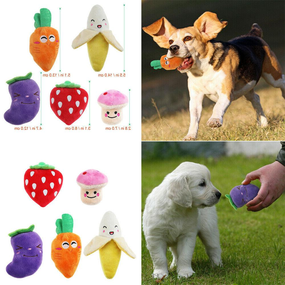 plush toys dogs 5pcs and squeaky dog