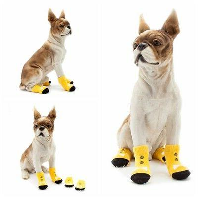Puppy Knit Socks Small Dogs Cat Boots Indoor