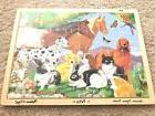 Puzzle PET Horse Cat Dog Melissa & Doug Wood Jigsaw Tray #32