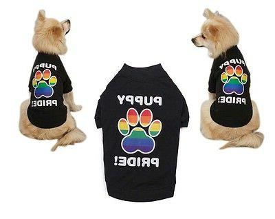 rainbow puppy pride shirts for dogs colorful